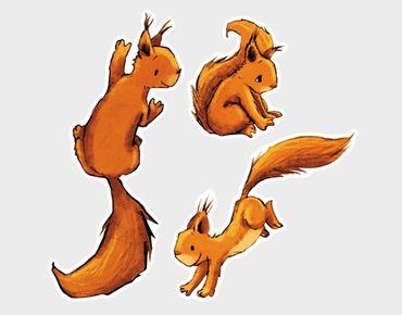 Adesivi da finestra Three Squirricorns