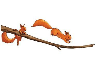 Adesivi da finestra Squirricorn On The Branch