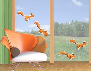 Adesivi da finestra Squirricorn-Parade