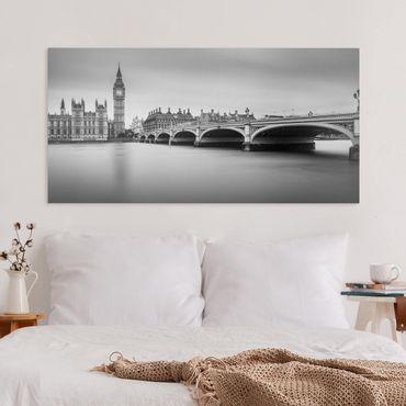 Stampa su tela - Ponte di Westminster e il Big Ben - Orizzontale 2:1