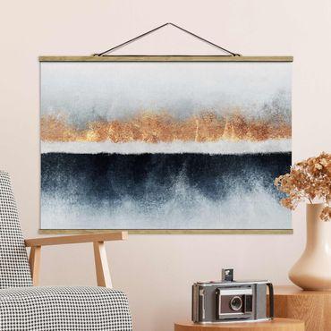 Foto su tessuto da parete con bastone - Elisabeth Fredriksson - Golden Horizon Acquerello - Orizzontale 2:3