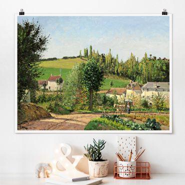 Poster - Camille Pissarro - Small Village - Orizzontale 3:4