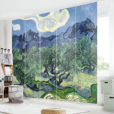 Tende scorrevoli set - Vincent Van Gogh - Olive Trees