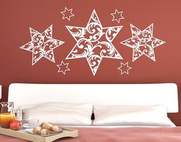 Adesivo murale no.YK11 Floral Stars Set