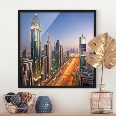 Poster con cornice - Dubai - Quadrato 1:1