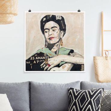 Poster - Frida Kahlo - Collage No.4 - Quadrato 1:1