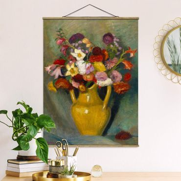 Foto su tessuto da parete con bastone - Otto Modersohn - bouquet colorato - Verticale 4:3