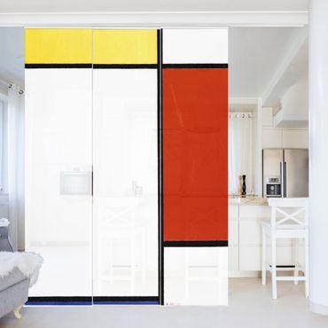 Tende scorrevoli set - Piet Mondrian - Composition I