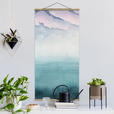 Quadro su tessuto con stecche per poster - Crepuscolo On The Bay I - Verticale 2:1