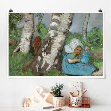 Poster - Paula Modersohn-Becker - Bambino con la bambola - Orizzontale 2:3