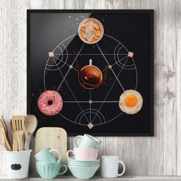Poster con cornice - Alchemy Of Breakfast - Quadrato 1:1