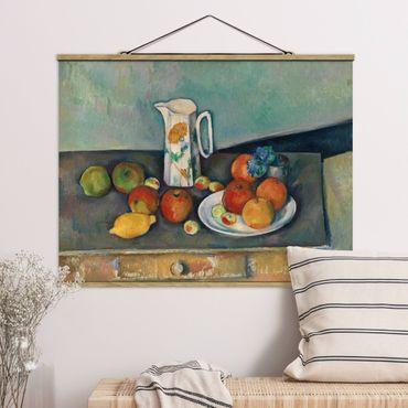 Foto su tessuto da parete con bastone - Paul Cézanne - Still Life Bricco del latte - Orizzontale 3:4