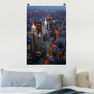 Poster - Manhattan Lights - Verticale 3:2