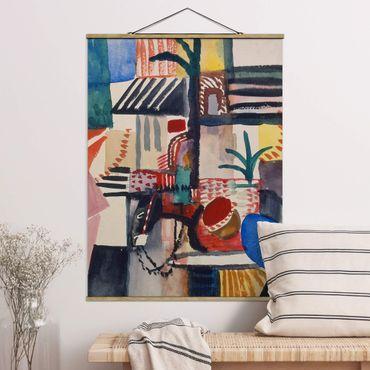Foto su tessuto da parete con bastone - August Macke - uomo con asino - Verticale 4:3