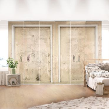 Tende scorrevoli set - Old Framed Concrete Wall In Ballroom