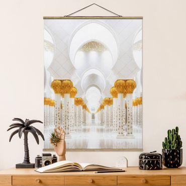 Foto su tessuto da parete con bastone - Moschea In Oro - Verticale 4:3