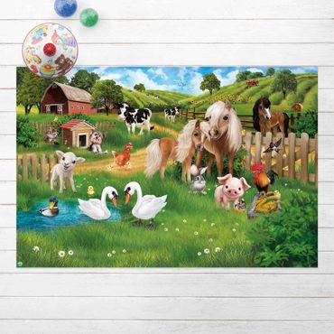Tappeti in vinile - Animal Club International - Animali nella fattoria - Orizzontale 3:2
