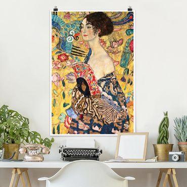 Poster - Gustav Klimt - Donna con ventaglio - Verticale 3:2