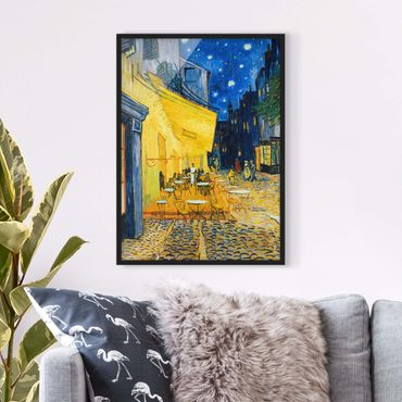 Poster con cornice - Vincent Van Gogh - Café Terrace At Night - Verticale 4:3