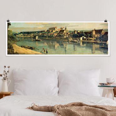 Poster - Bernardo Bellotto - View Of Pirna - Panorama formato orizzontale