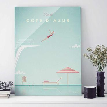 Quadro in vetro - Poster Viaggi - Côte d'Azur - Verticale 4:3