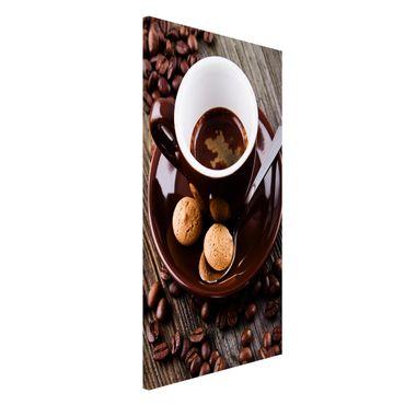 Lavagna magnetica - Fagioli della tazza di caffè con il caffè - Formato verticale 4:3