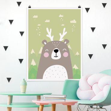 Poster - Wolpertinger Bears - Verticale 4:3