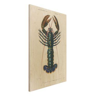 Stampa su legno - Vintage Blue Board Lobster - Verticale 3:2