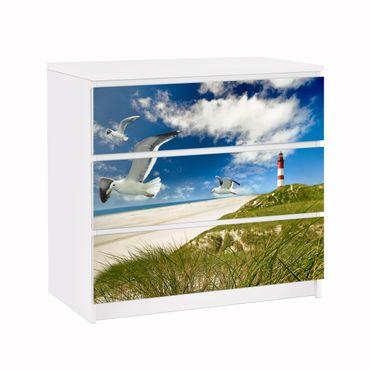 Carta adesiva per mobili IKEA - Malm Cassettiera 3xCassetti - Dune Breeze