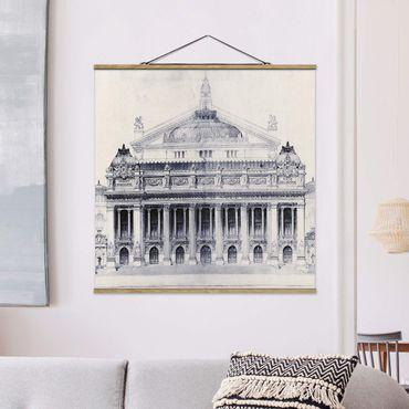 Foto su tessuto da parete con bastone - Prix ??de Rome Sketch II - Quadrato 1:1