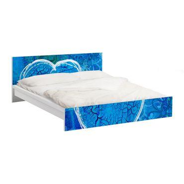 Carta adesiva per mobili IKEA - Malm Letto basso 180x200cm Terra Azura