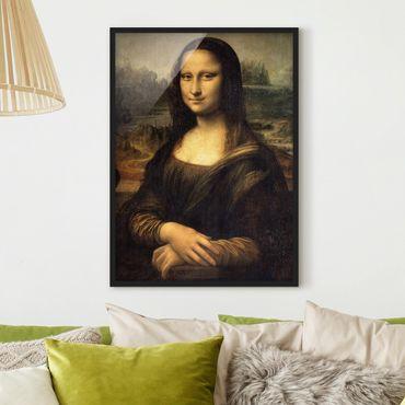 Poster con cornice - Leonardo Da Vinci - Mona Lisa - Verticale 4:3