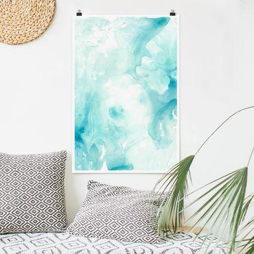 Poster - Emulsione Bianco e Turchese II - Verticale 3:2
