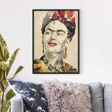 Poster con cornice - Frida Kahlo - Collage No.2 - Verticale 4:3