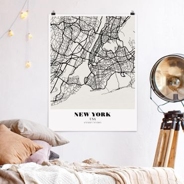Poster - Mappa New York - Classic - Verticale 4:3