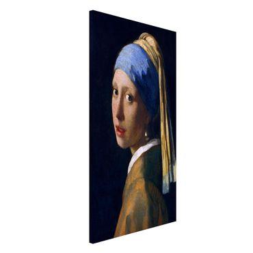 Lavagna magnetica - Jan Vermeer van Delft - Ragazza con l'orecchino di perla - Formato verticale 4:3