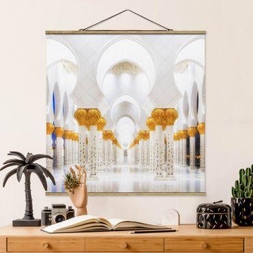 Foto su tessuto da parete con bastone - Moschea In Oro - Quadrato 1:1