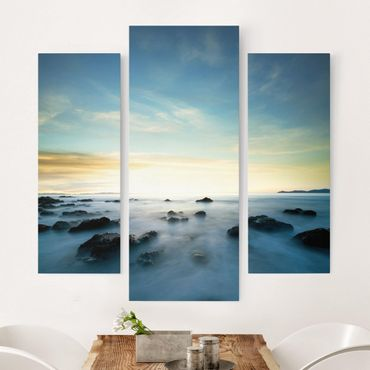 Stampa su tela 3 parti - Sunset Over The Ocean - Trittico da galleria