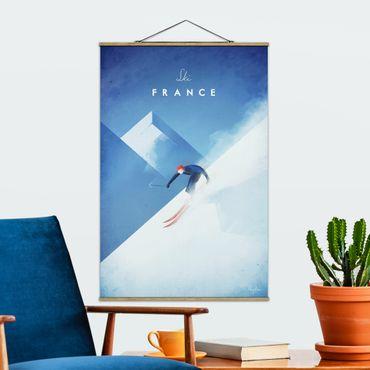 Foto su tessuto da parete con bastone - Viaggi Poster - Sciare in Francia - Verticale 3:2
