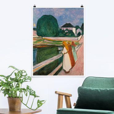 Poster - Edvard Munch - Notte Bianca - Verticale 4:3