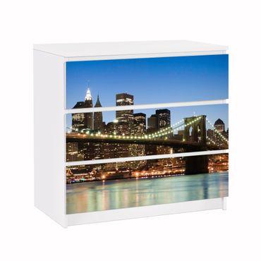 Carta adesiva per mobili IKEA - Malm Cassettiera 3xCassetti - Brooklyn Bridge in New York