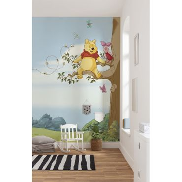 Carta da parati per bambini - Winnie Pooh Tree - Komar fotomurale