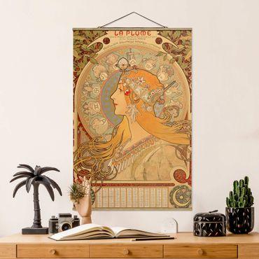 Foto su tessuto da parete con bastone - Alfons Mucha - Segni dello zodiaco - Verticale 3:2
