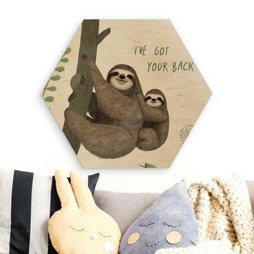 Esagono in legno - Sloth Proverbi - Indietro