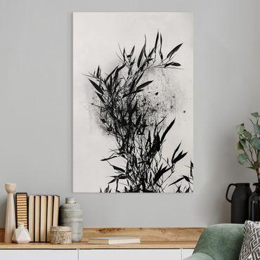 Stampa su tela - Mondo vegetale grafico - Bambú nero - Verticale 3:2
