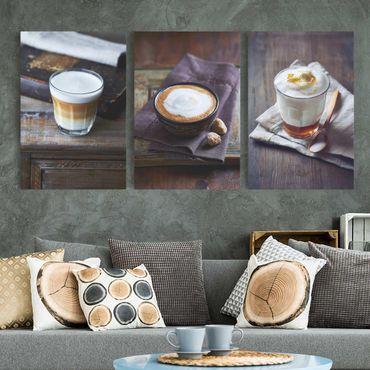 Stampa su tela 3 parti - Caffè Latte - Verticale 3:2
