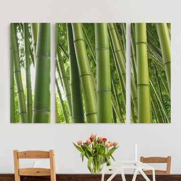 Stampa su tela 3 parti - Bamboo Trees - Trittico