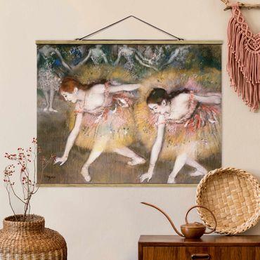 Foto su tessuto da parete con bastone - Edgar Degas - Ballerine Bowing - Orizzontale 3:4