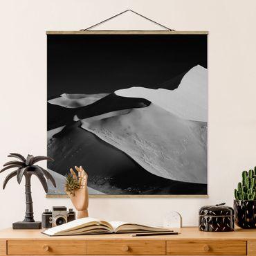Foto su tessuto da parete con bastone - Deserto - Estratto Dunes - Quadrato 1:1