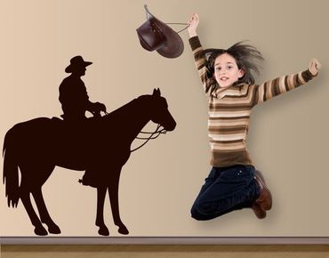 Adesivo murale no.1400 Cowboy Silhouette